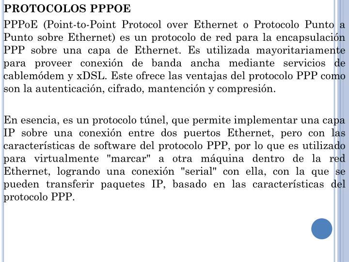 PROTOCOLOS PPPOE
