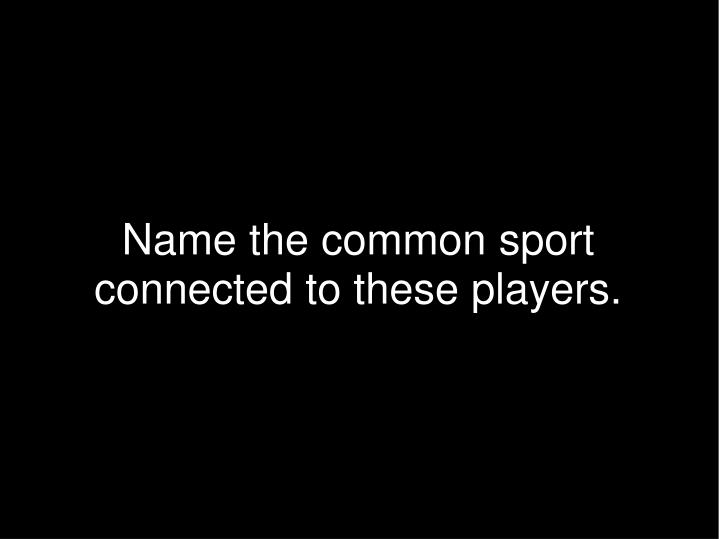 Name the common sport connected to these players.