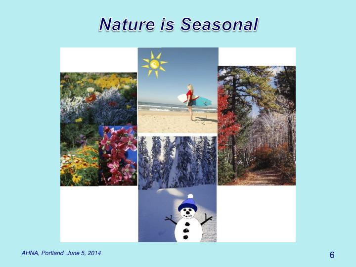 Nature is Seasonal