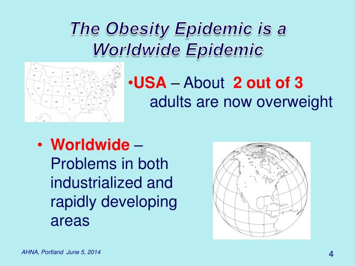 The Obesity Epidemic is a Worldwide Epidemic