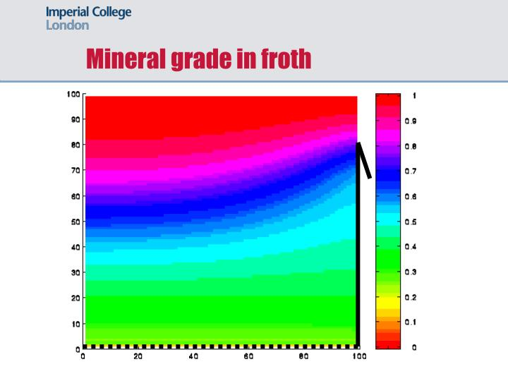 Mineral grade in froth