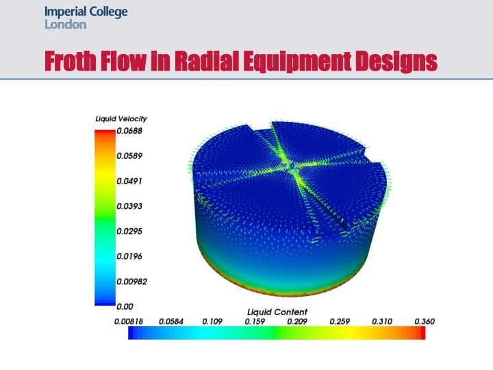 Froth Flow in Radial Equipment Designs