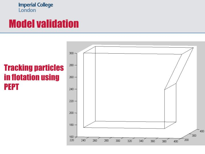 Tracking particles in flotation using PEPT