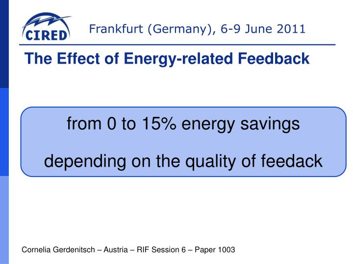 The Effect of Energy-related Feedback