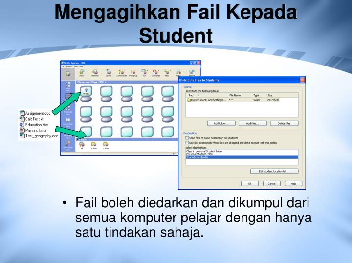Mengagihkan Fail Kepada Student