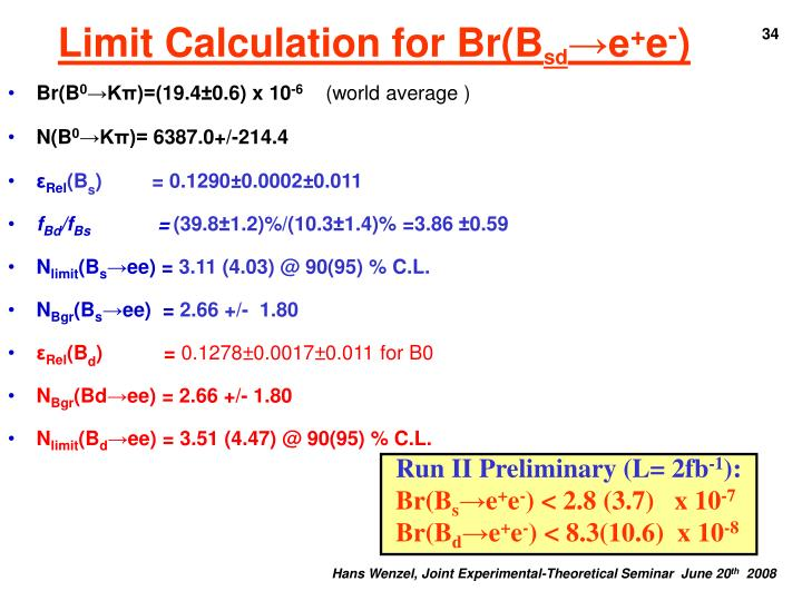 Limit Calculation for Br(B
