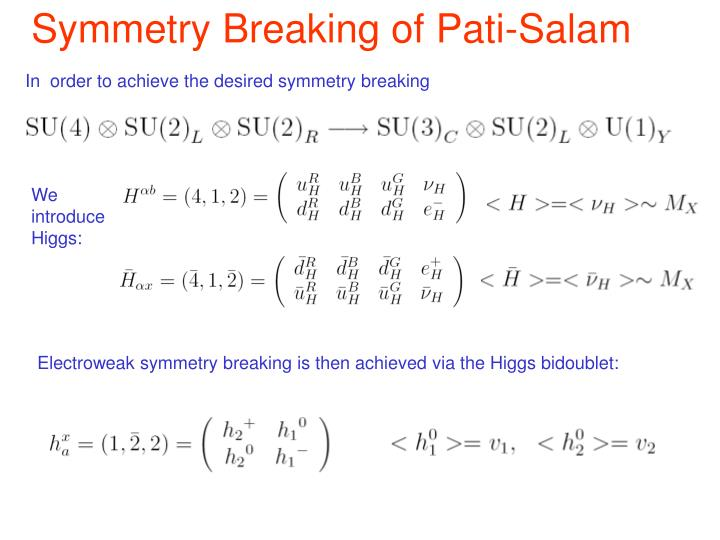 Symmetry Breaking of Pati-Salam
