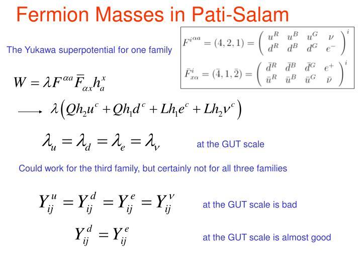 Fermion Masses in Pati-Salam