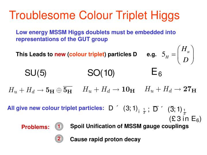 Troublesome Colour Triplet Higgs