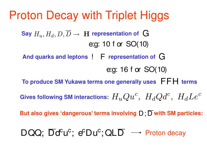 Proton Decay with Triplet Higgs
