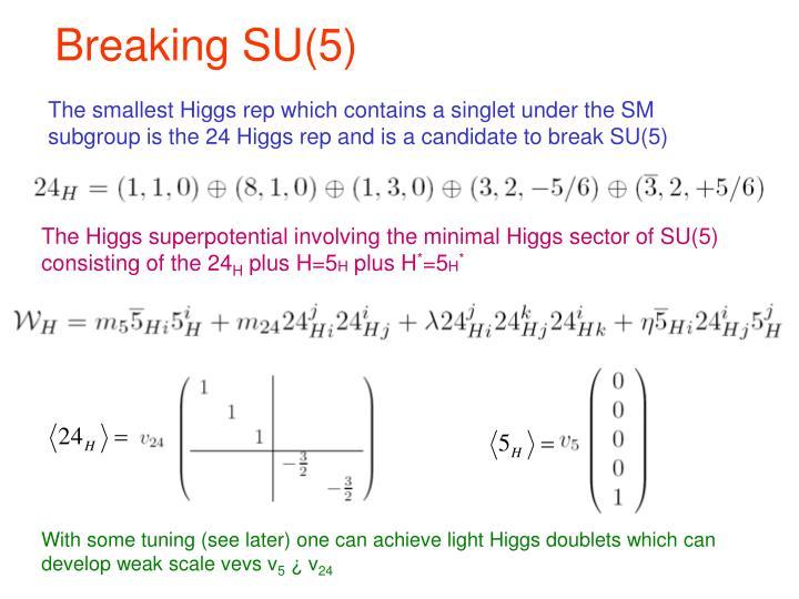 Breaking SU(5)