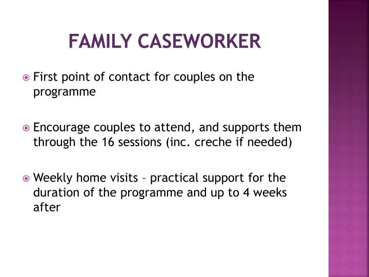 Family caseworker