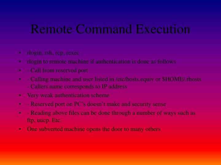 Remote Command Execution