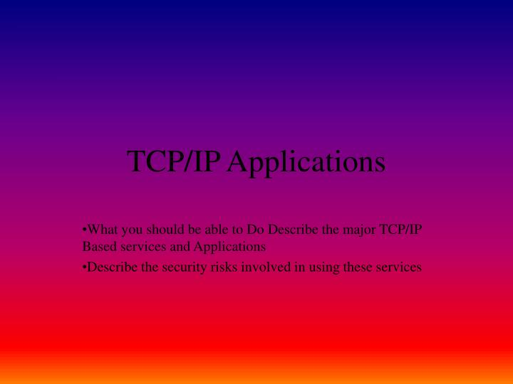 tcp ip applications