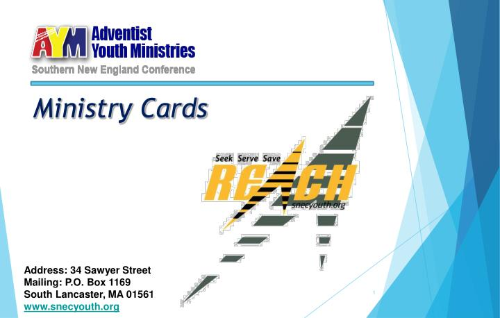 Ministry Cards