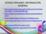 estado peruano informaci n general