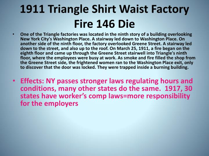 1911 Triangle Shirt Waist Factory Fire 146 Die