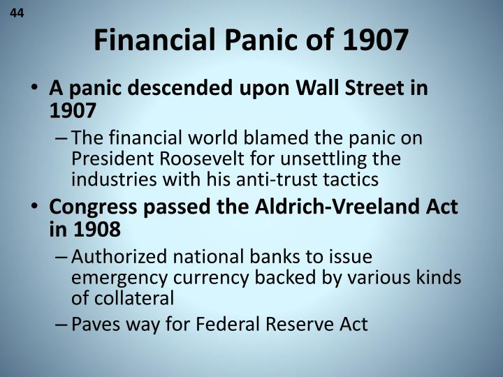 Financial Panic of 1907