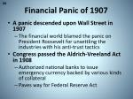 financial panic of 1907