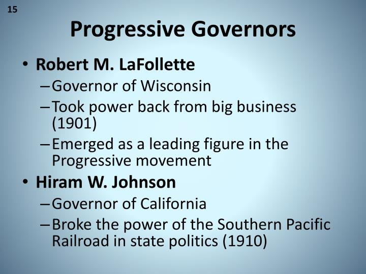 Progressive Governors