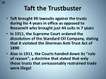 taft the trustbuster