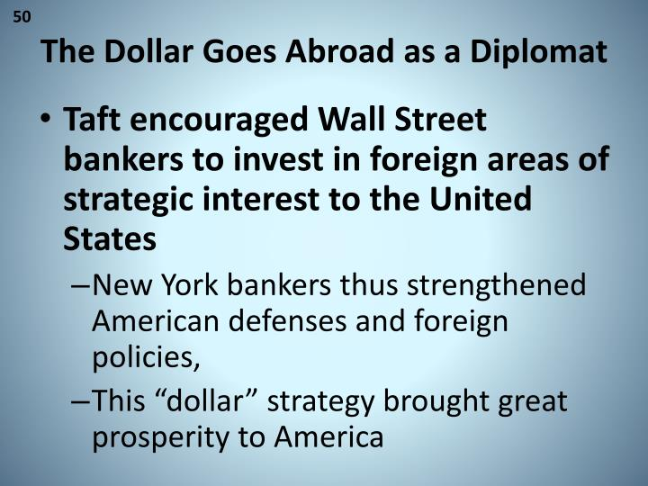 The Dollar Goes Abroad as a Diplomat