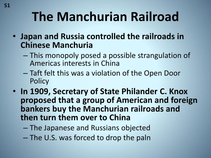 The Manchurian Railroad