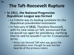the taft roosevelt rupture