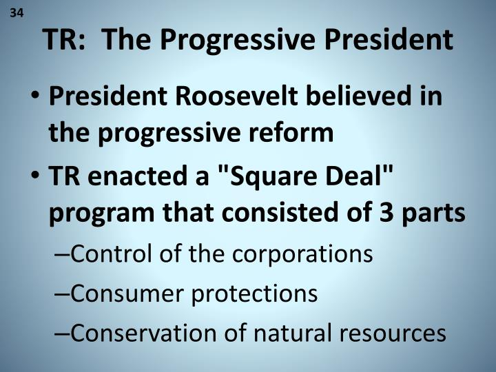 TR:  The Progressive President