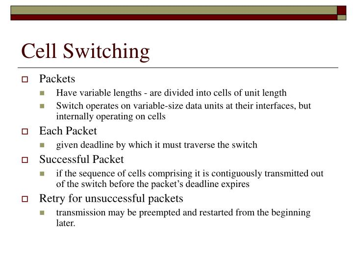 Cell Switching