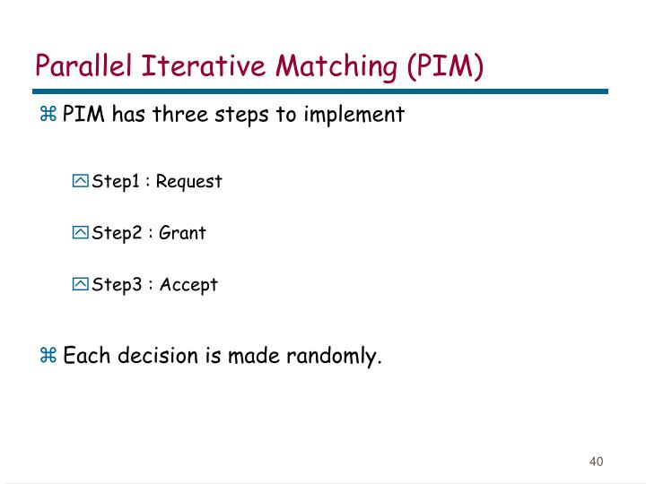 Parallel Iterative Matching (PIM)