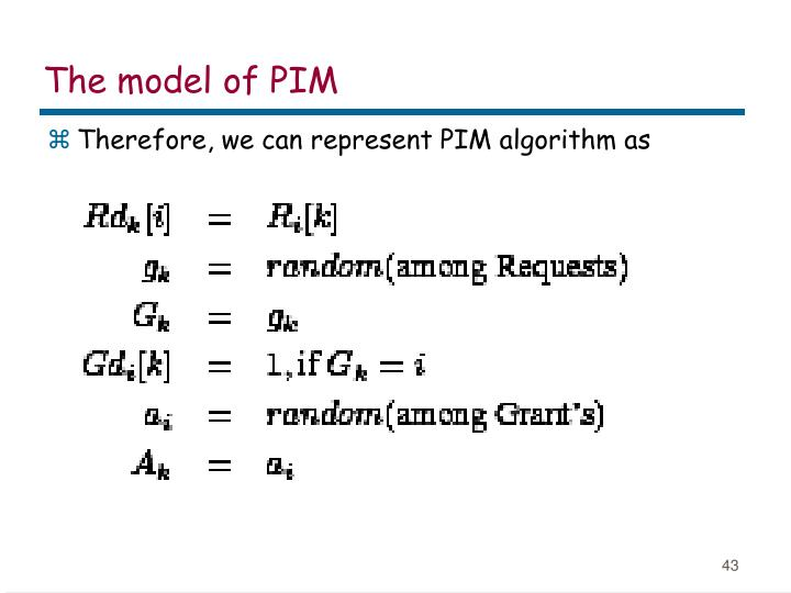 The model of PIM