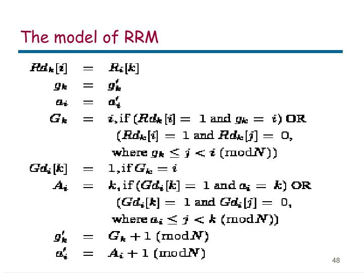 The model of RRM