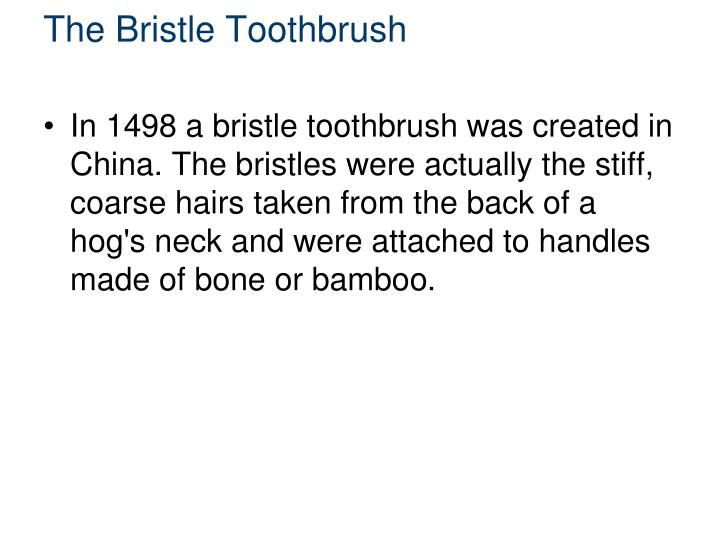 The Bristle Toothbrush