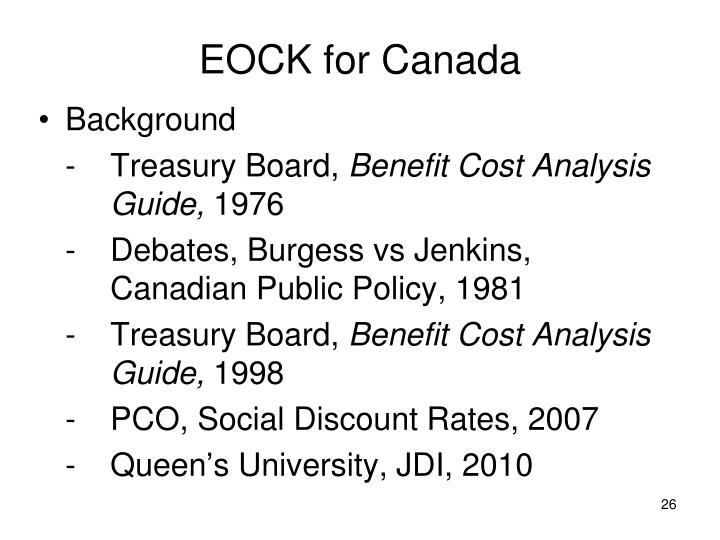 EOCK for Canada