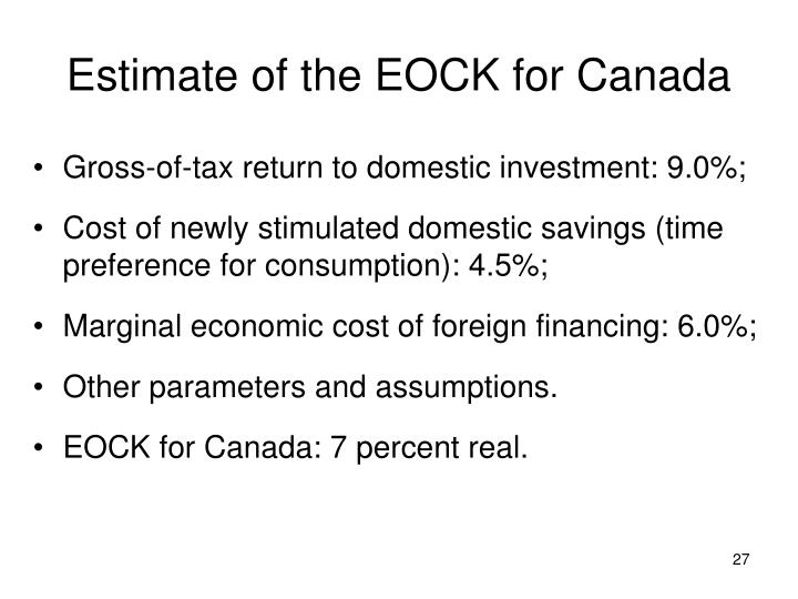 Estimate of the EOCK for Canada