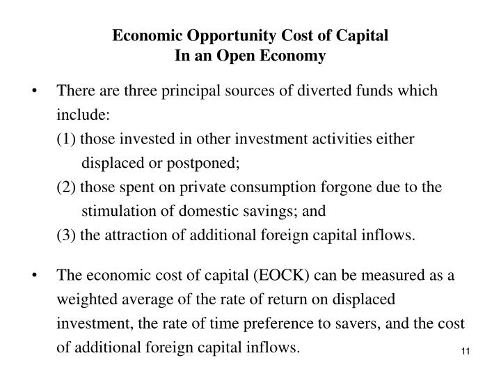 Economic Opportunity Cost of Capital