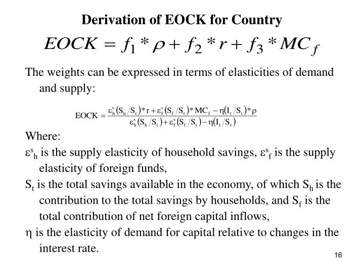 Derivation of EOCK for Country