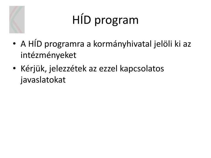 HÍD program