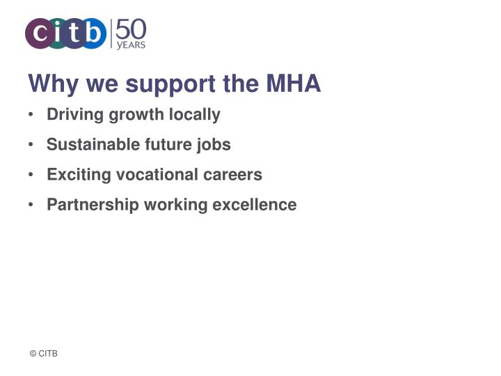 Why we support the MHA