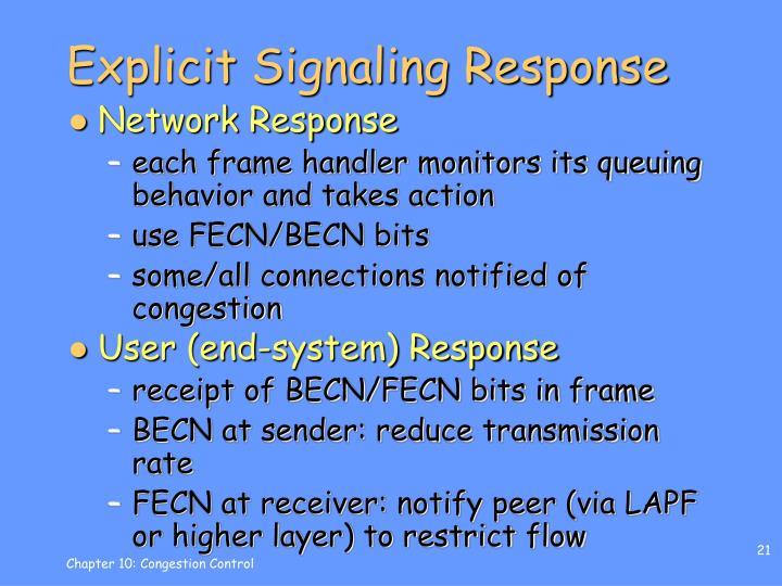 Explicit Signaling Response