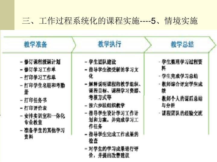 三、工作过程系统化的课程实施