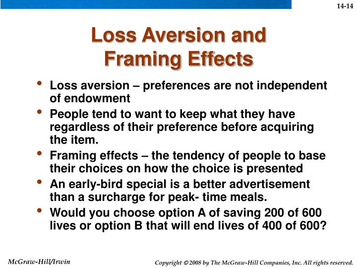 Loss Aversion and