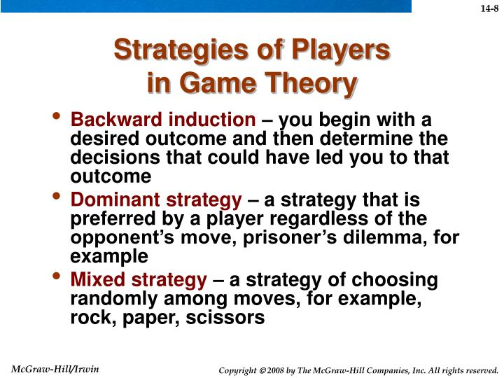 Strategies of Players