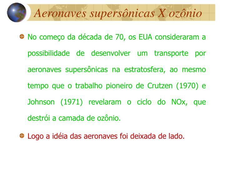 Aeronaves supersônicas X ozônio