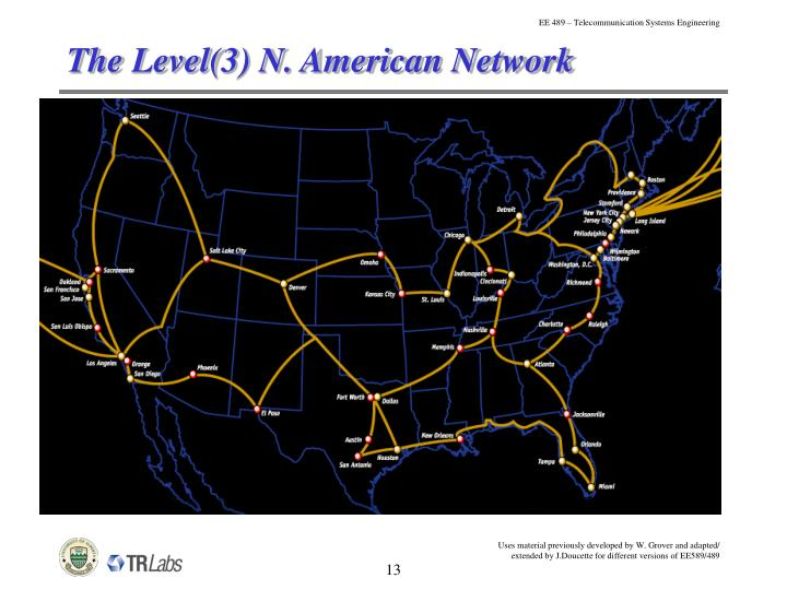 The Level(3) N. American Network
