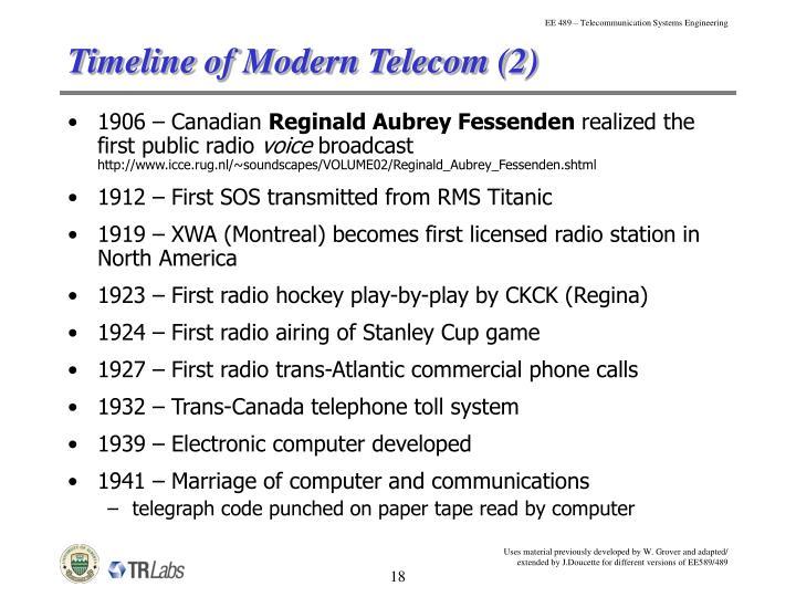 Timeline of Modern Telecom (2)