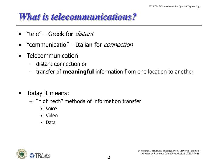 What is telecommunications