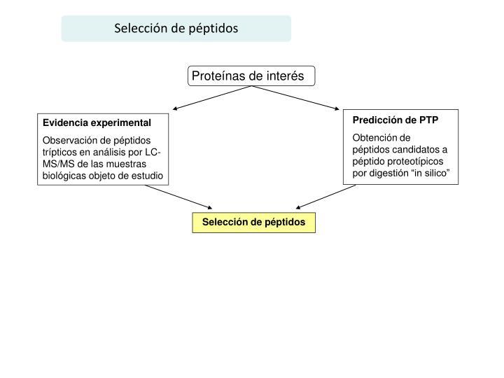 Selección de péptidos