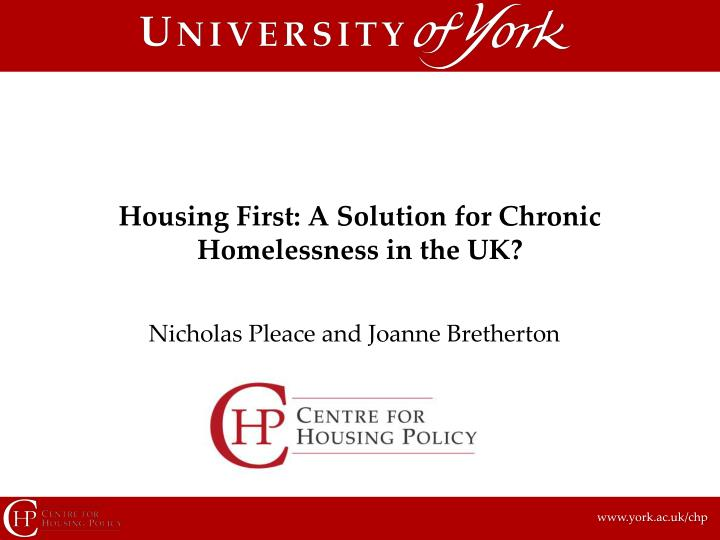housing first a solution for chronic homelessness in the uk